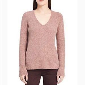 Calvin Klein Jeans V-neck long-Sleeve pink sweater